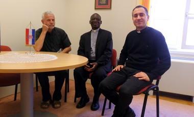 Biskup iz Gane u Klasičnoj gimnaziji Ivana Pavla II.