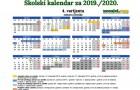 Školski kalendar 2019./2020.